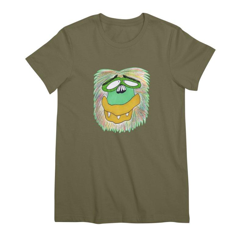 Monkey Guy Women's Premium T-Shirt by NatiRomero's Artist Shop