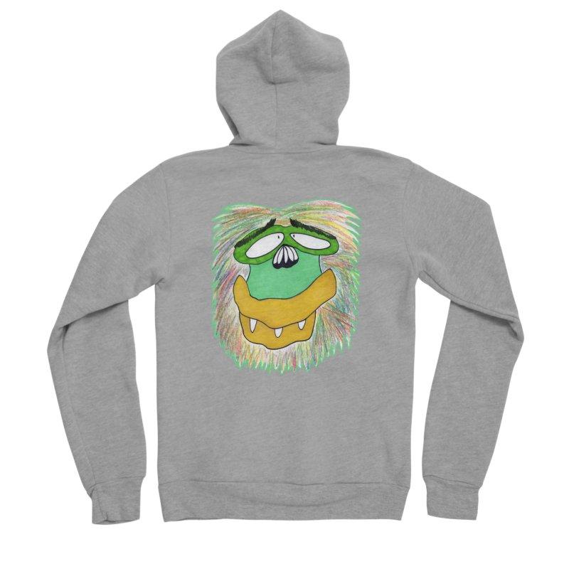 Monkey Guy Men's Sponge Fleece Zip-Up Hoody by NatiRomero's Artist Shop
