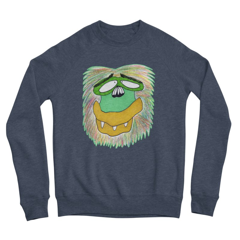 Monkey Guy Men's Sponge Fleece Sweatshirt by NatiRomero's Artist Shop