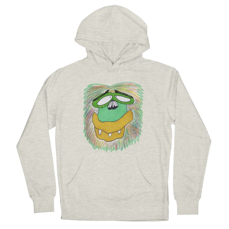 Monkey Guy Women's French Terry Pullover Hoody by NatiRomero's Artist Shop