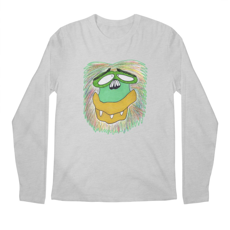 Monkey Guy Men's Regular Longsleeve T-Shirt by NatiRomero's Artist Shop