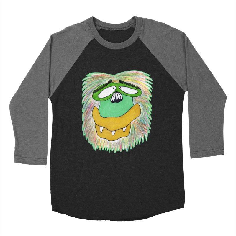 Monkey Guy Women's Baseball Triblend Longsleeve T-Shirt by NatiRomero's Artist Shop