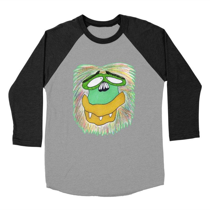 Monkey Guy Men's Baseball Triblend Longsleeve T-Shirt by NatiRomero's Artist Shop