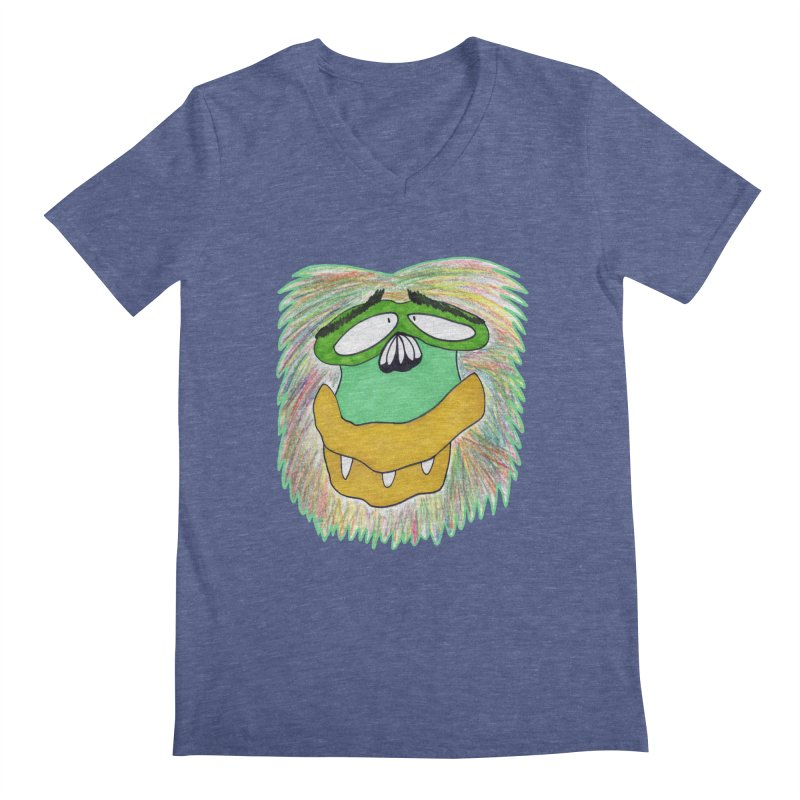 Monkey Guy Men's Regular V-Neck by NatiRomero's Artist Shop