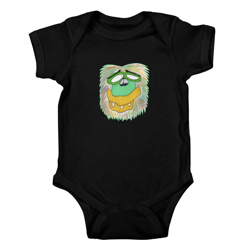 Monkey Guy Kids Baby Bodysuit by NatiRomero's Artist Shop