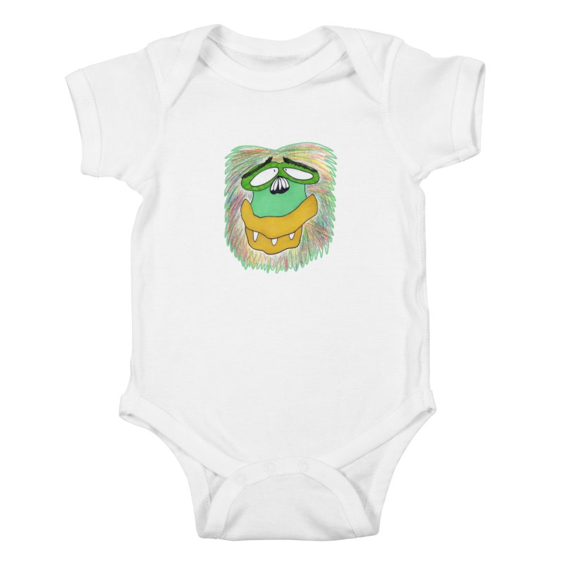 Monkey Guy Kids Baby Bodysuit by NatiRomero's Artist Shop