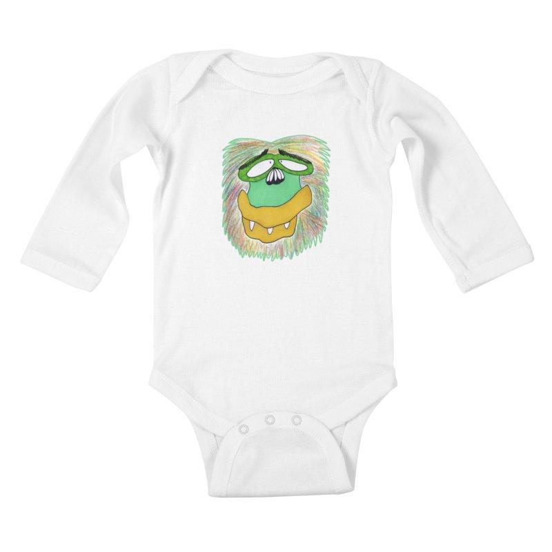 Monkey Guy Kids Baby Longsleeve Bodysuit by NatiRomero's Artist Shop