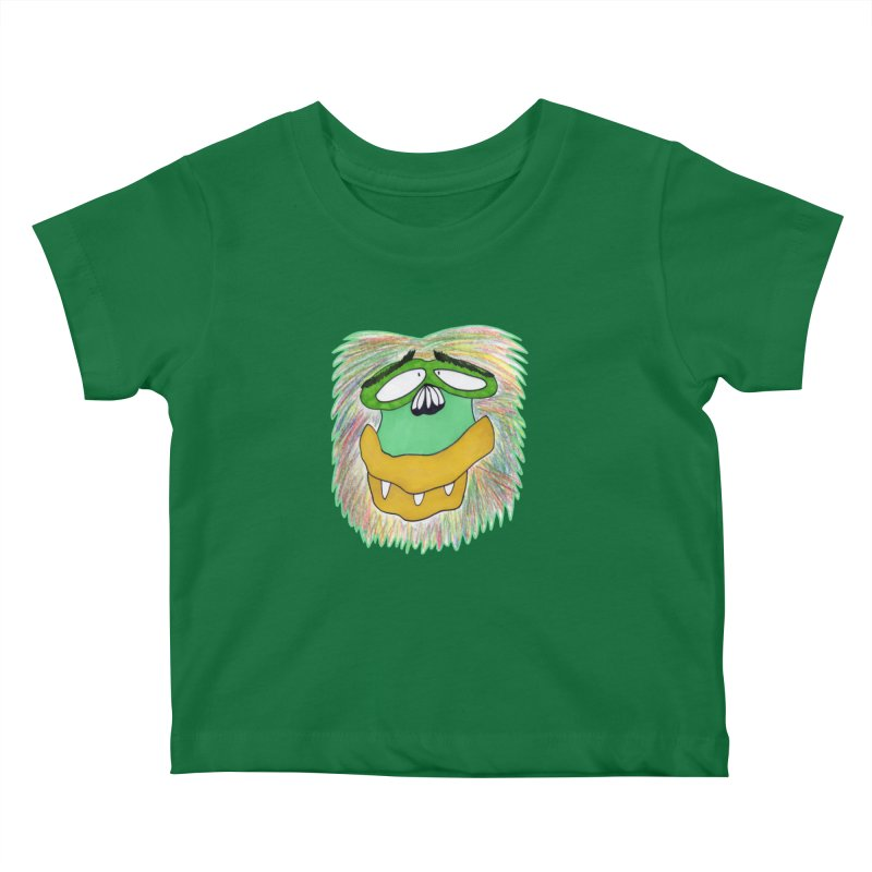 Monkey Guy Kids Baby T-Shirt by NatiRomero's Artist Shop