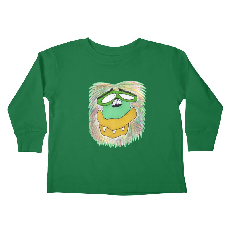 Monkey Guy Kids Toddler Longsleeve T-Shirt by NatiRomero's Artist Shop