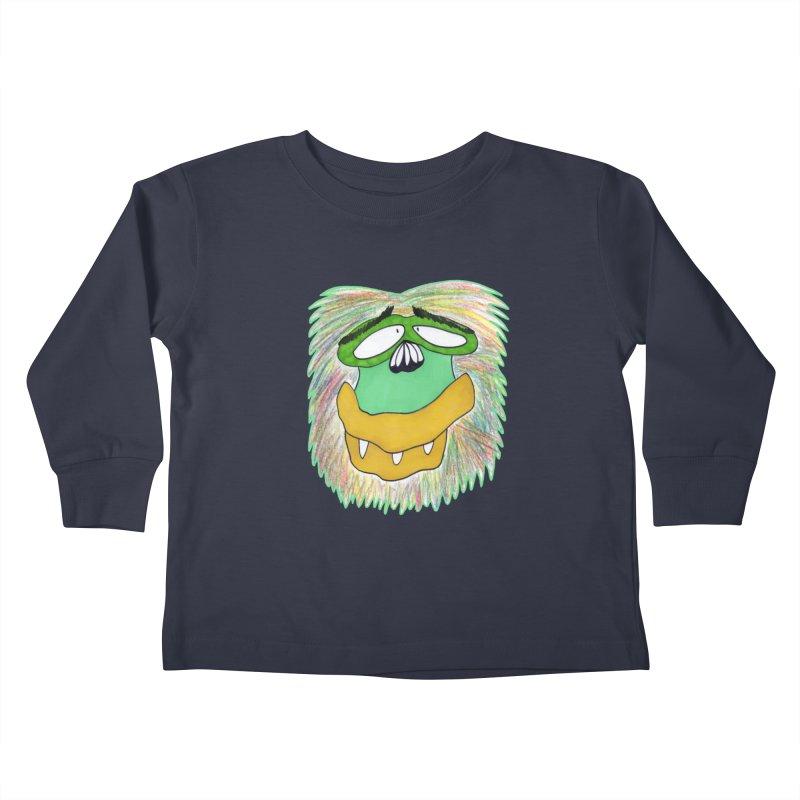 Monkey Guy Kids Toddler Longsleeve T-Shirt by NatiRomero's Artist Shop