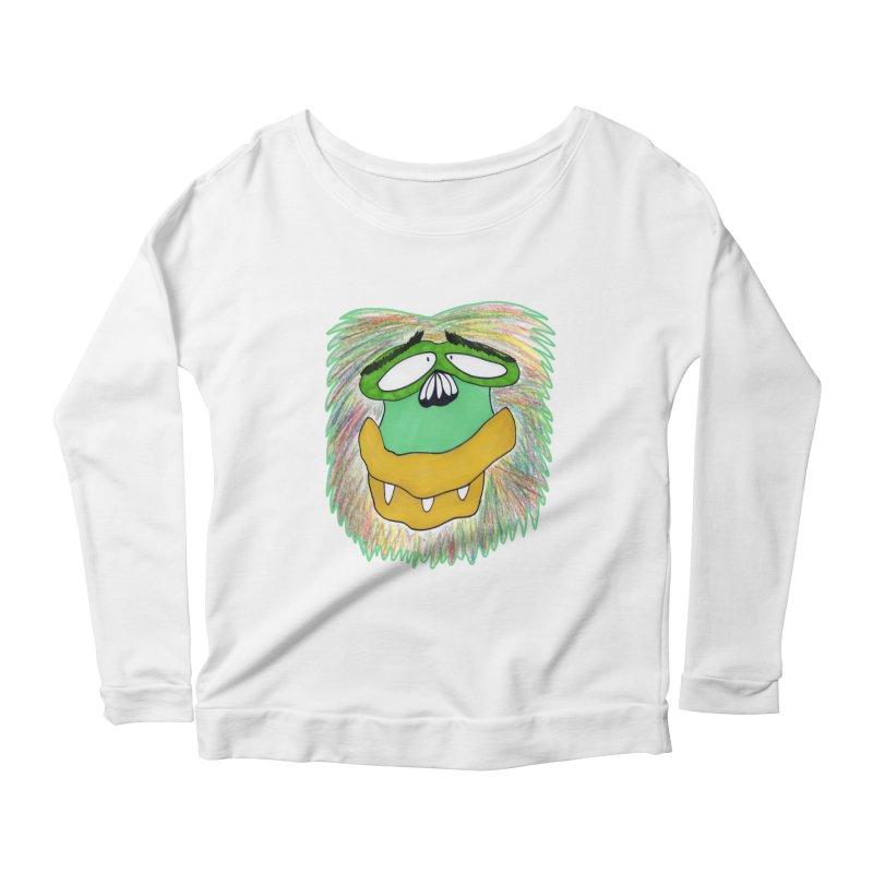 Monkey Guy Women's Scoop Neck Longsleeve T-Shirt by NatiRomero's Artist Shop