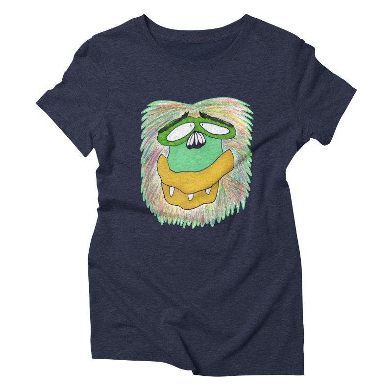 Monkey Guy Women's Triblend T-Shirt by NatiRomero's Artist Shop