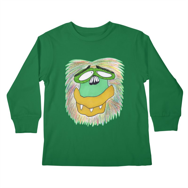 Monkey Guy Kids Longsleeve T-Shirt by NatiRomero's Artist Shop