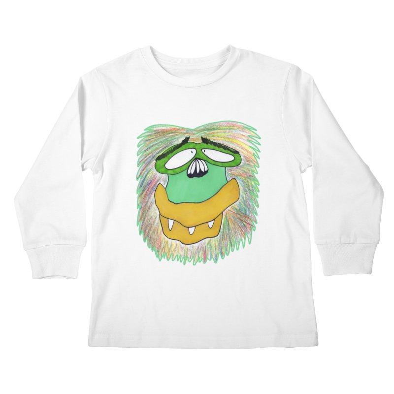 Monkey Guy Kids Longsleeve T-Shirt by NatiRomero's Artist Shop