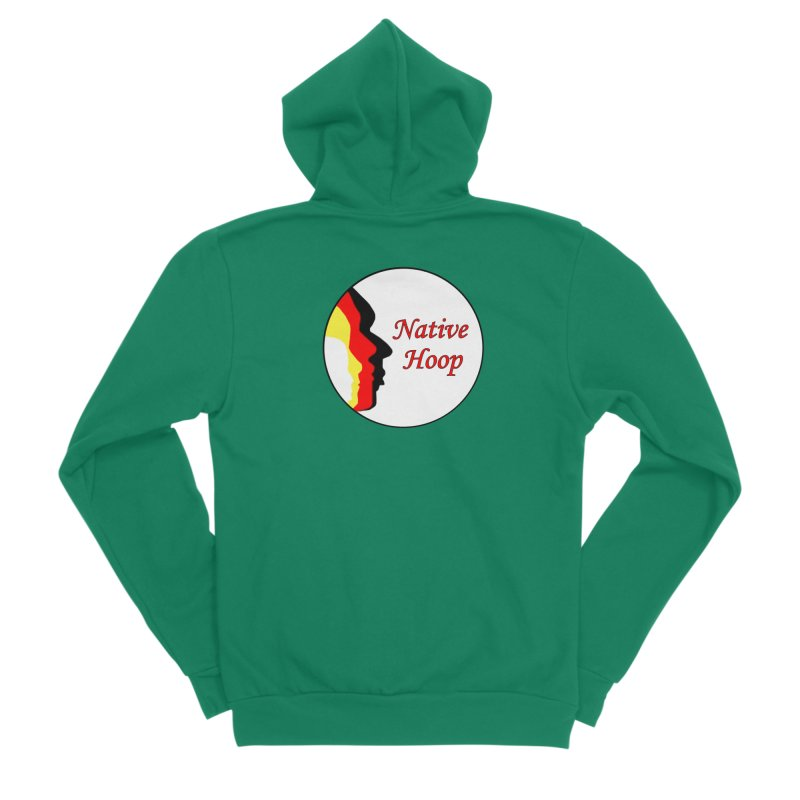 Native Hoop Logo Women's Sponge Fleece Zip-Up Hoody by NativeHoopMagazine's Artist Shop