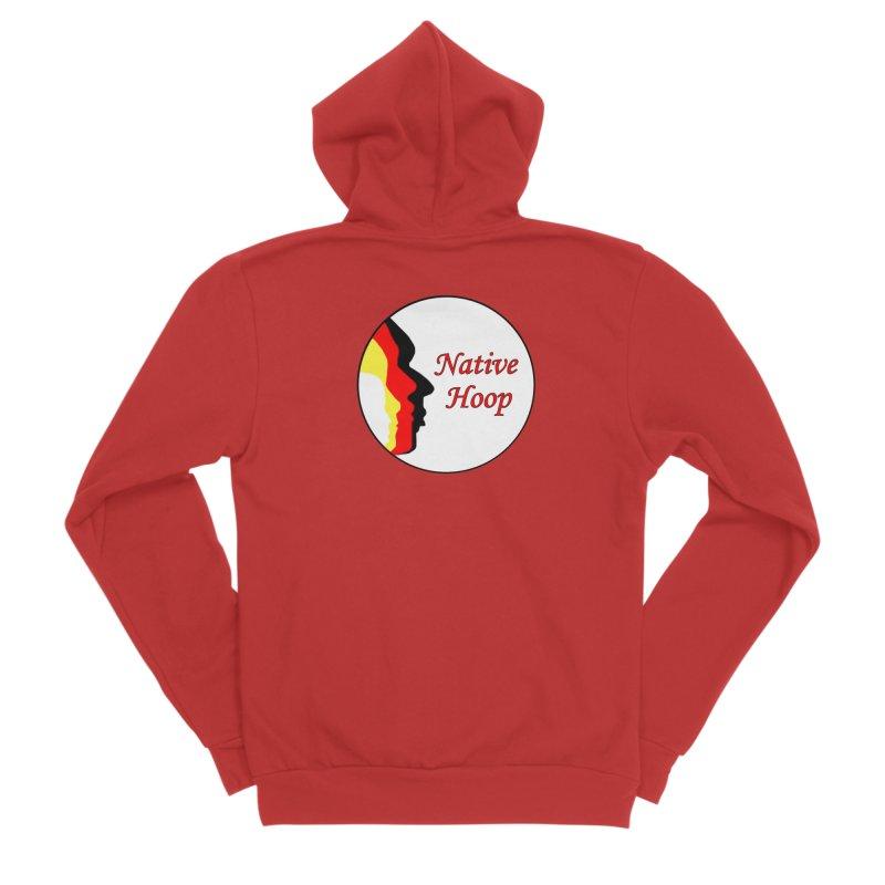 Native Hoop Logo Men's Sponge Fleece Zip-Up Hoody by NativeHoopMagazine's Artist Shop