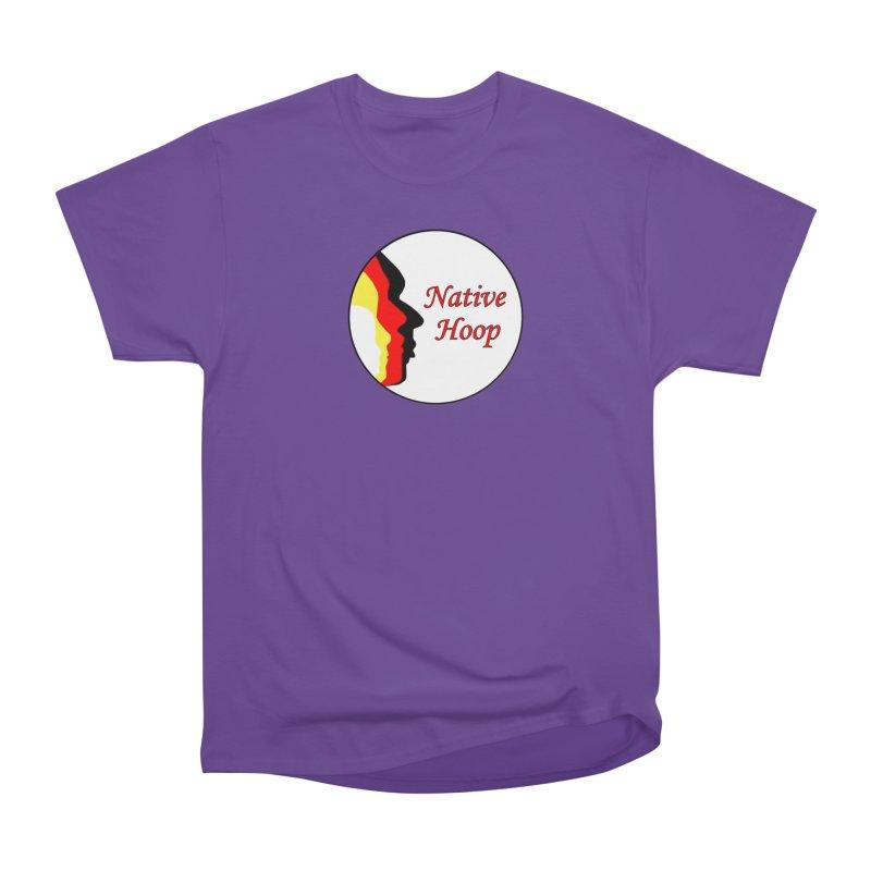 Native Hoop Logo Women's Heavyweight Unisex T-Shirt by NativeHoopMagazine's Artist Shop