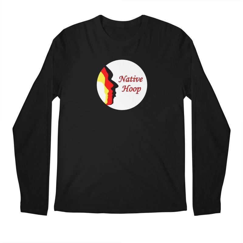 Native Hoop Logo Men's Regular Longsleeve T-Shirt by NativeHoopMagazine's Artist Shop