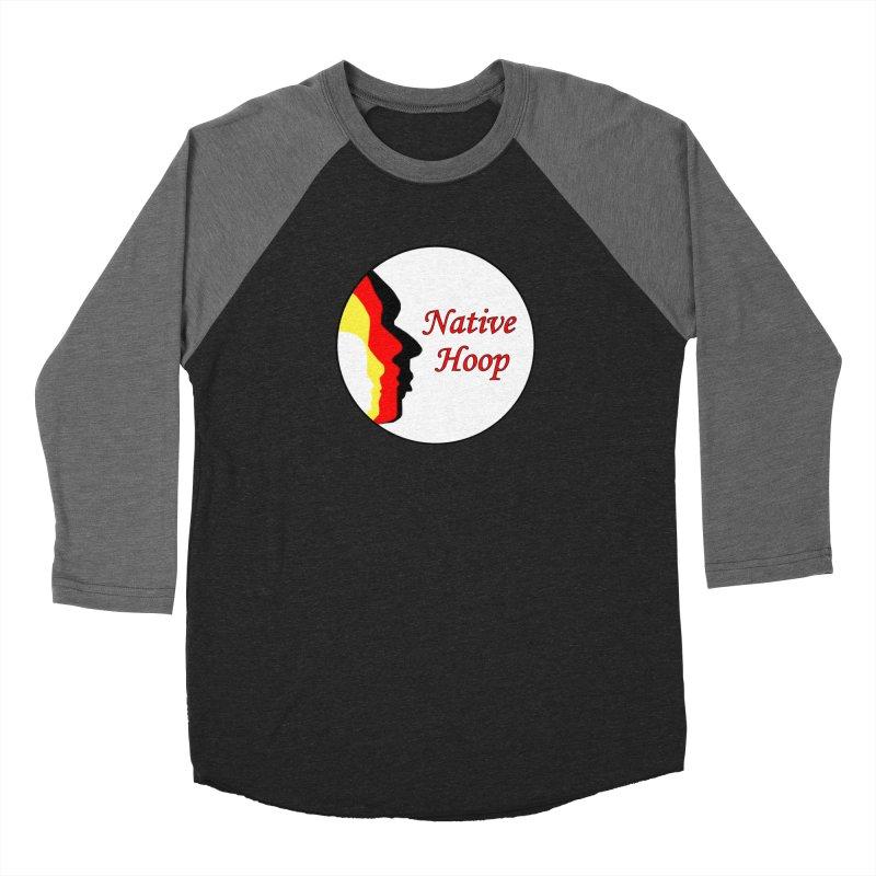 Native Hoop Logo Men's Baseball Triblend Longsleeve T-Shirt by NativeHoopMagazine's Artist Shop