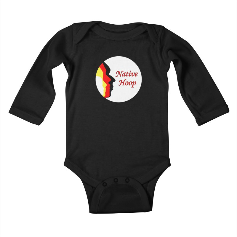 Native Hoop Logo Kids Baby Longsleeve Bodysuit by NativeHoopMagazine's Artist Shop