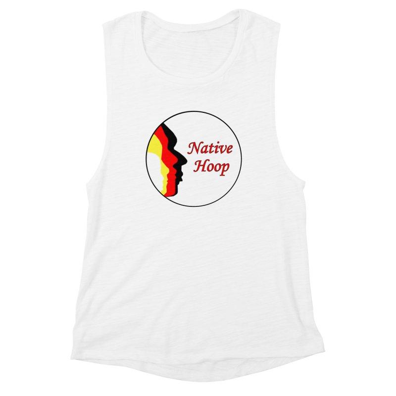 Native Hoop Logo Women's Muscle Tank by NativeHoopMagazine's Artist Shop