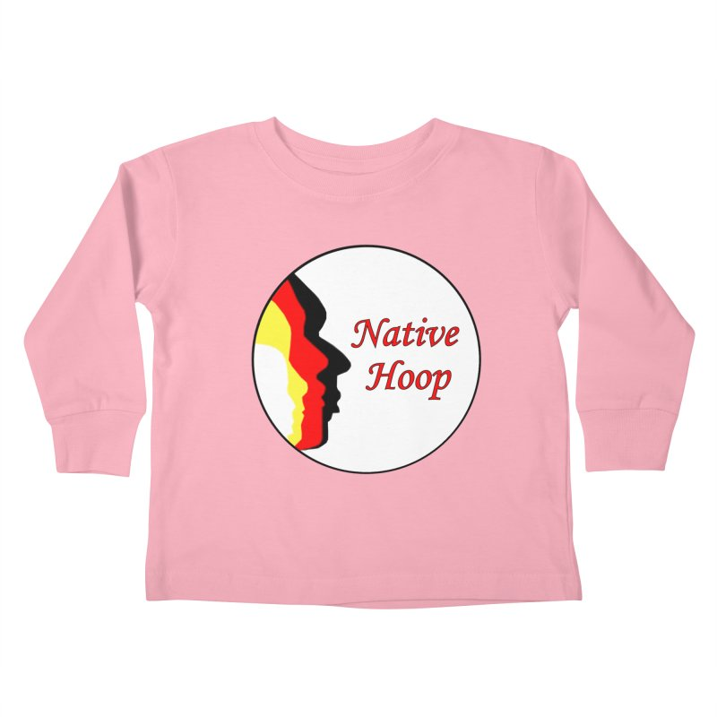 Native Hoop Logo Kids Toddler Longsleeve T-Shirt by NativeHoopMagazine's Artist Shop