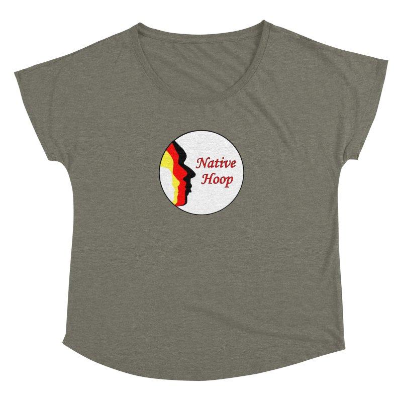 Native Hoop Logo Women's Dolman Scoop Neck by NativeHoopMagazine's Artist Shop