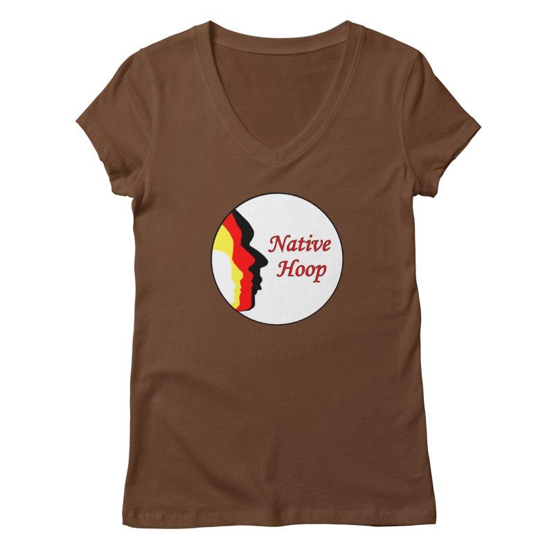 Native Hoop Logo Women's Regular V-Neck by NativeHoopMagazine's Artist Shop