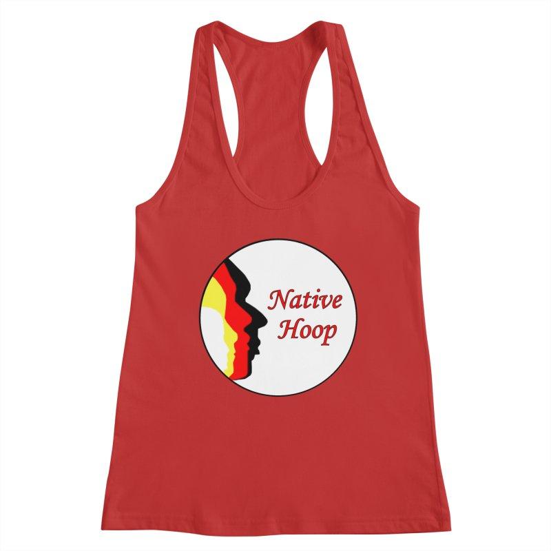 Native Hoop Logo Women's Racerback Tank by NativeHoopMagazine's Artist Shop