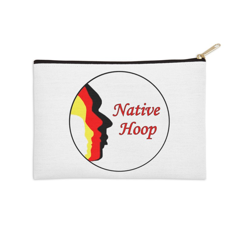 Native Hoop Logo Accessories Zip Pouch by NativeHoopMagazine's Artist Shop