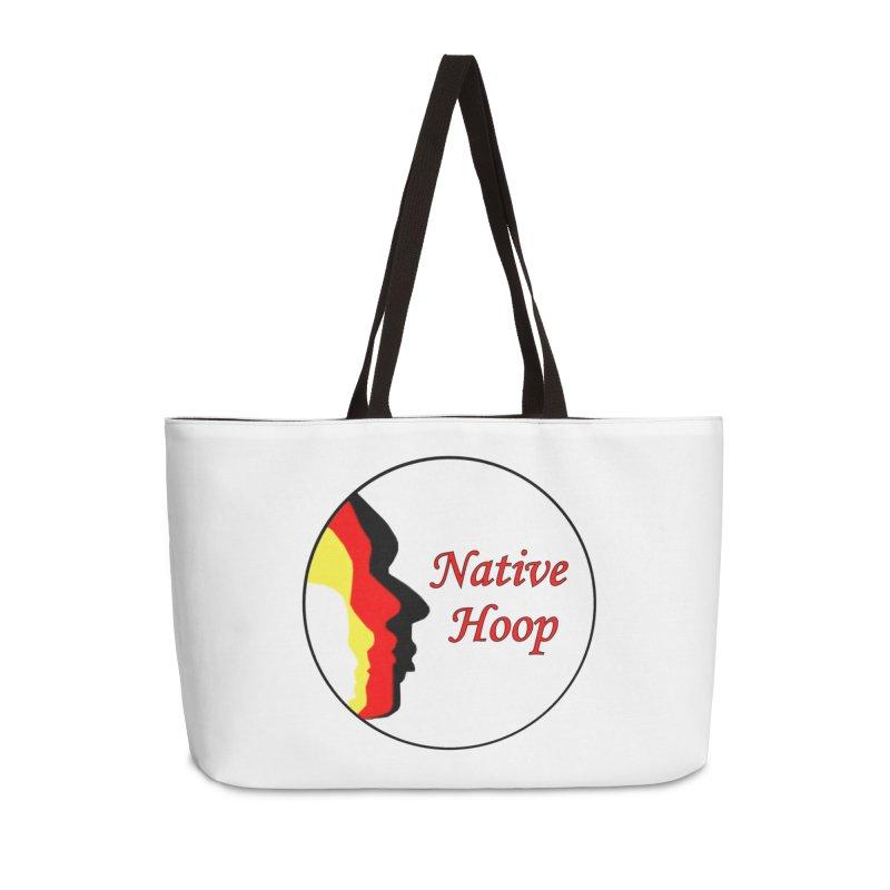 Native Hoop Logo Accessories Weekender Bag Bag by NativeHoopMagazine's Artist Shop