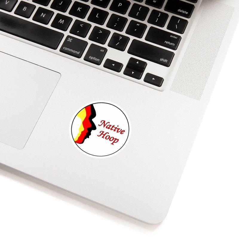 Native Hoop Logo Accessories Sticker by NativeHoopMagazine's Artist Shop