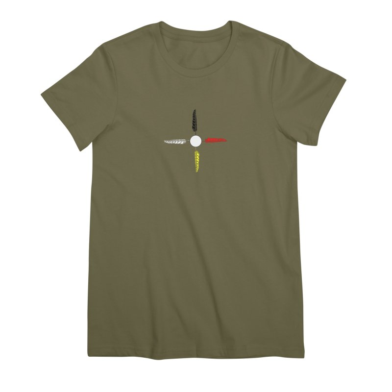 4 Feathered Directions Women's Premium T-Shirt by NativeHoopMagazine's Artist Shop