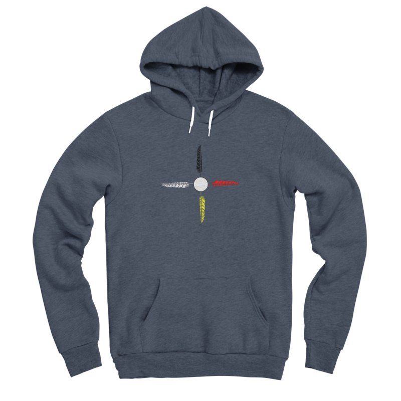 4 Feathered Directions Women's Sponge Fleece Pullover Hoody by NativeHoopMagazine's Artist Shop