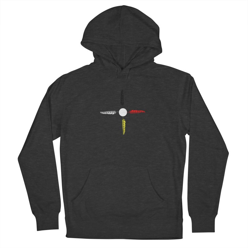 4 Feathered Directions Women's French Terry Pullover Hoody by NativeHoopMagazine's Artist Shop