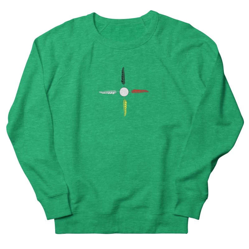 4 Feathered Directions Women's French Terry Sweatshirt by NativeHoopMagazine's Artist Shop