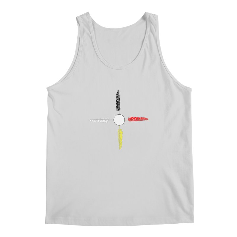 4 Feathered Directions Men's Regular Tank by NativeHoopMagazine's Artist Shop