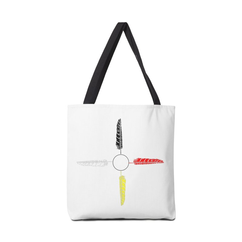 4 Feathered Directions Accessories Tote Bag Bag by NativeHoopMagazine's Artist Shop