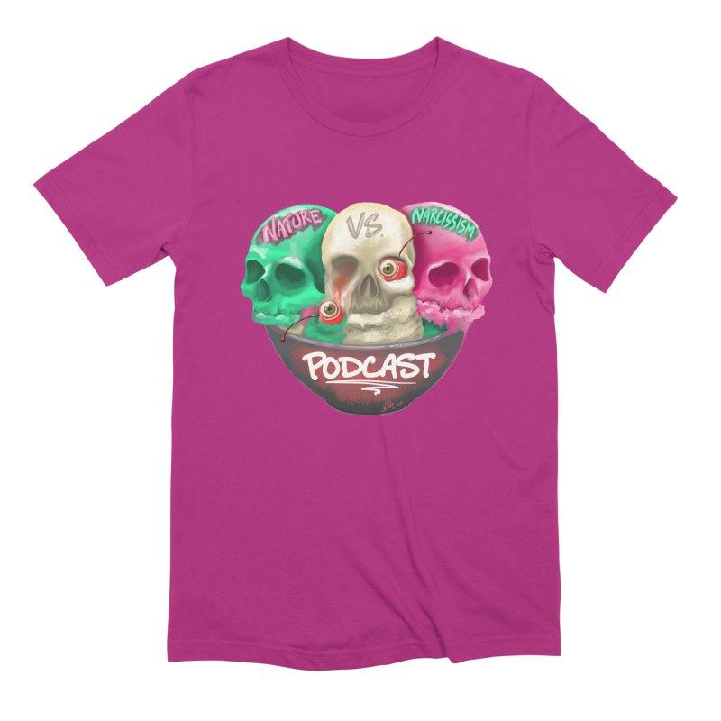 New Logo (transparent) Men's Extra Soft T-Shirt by NaturevsNarcissism's Podcast Swag Shop