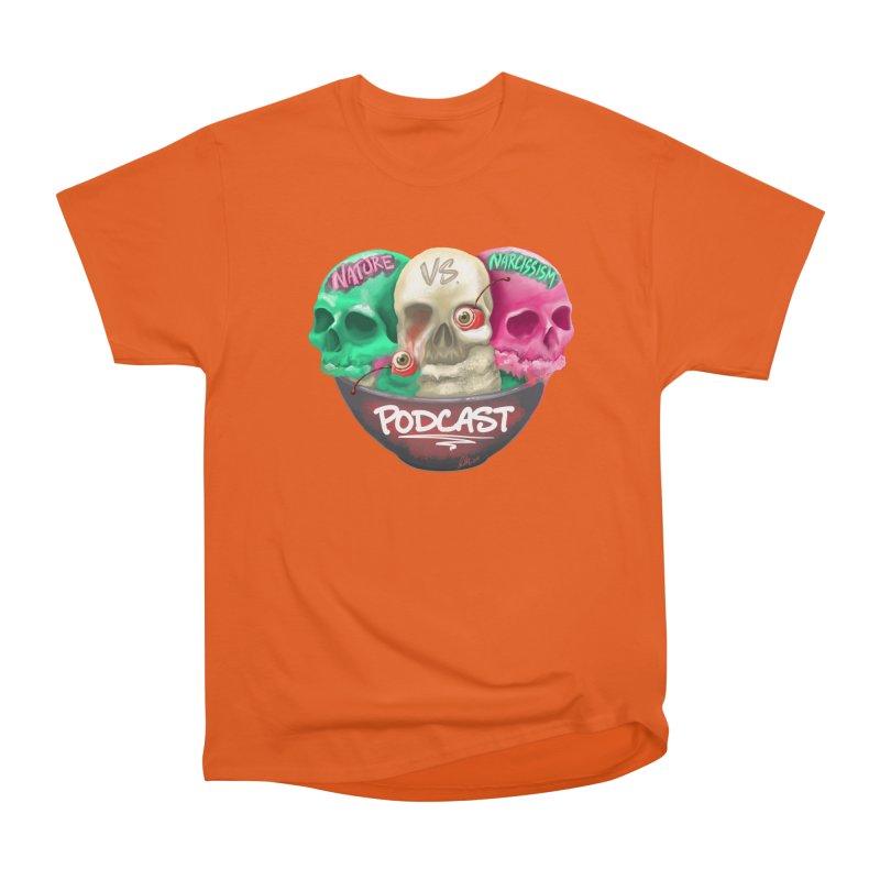New Logo (transparent) Women's Heavyweight Unisex T-Shirt by NaturevsNarcissism's Podcast Swag Shop