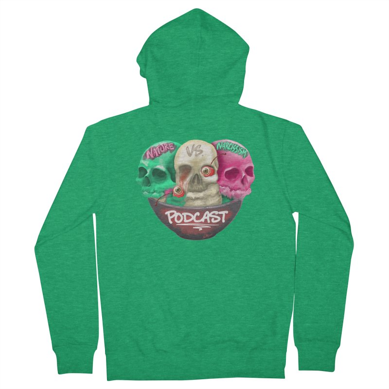 New Logo (transparent) Men's Zip-Up Hoody by NaturevsNarcissism's Podcast Swag Shop