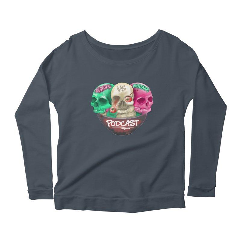 New Logo (transparent) Women's Scoop Neck Longsleeve T-Shirt by NaturevsNarcissism's Podcast Swag Shop