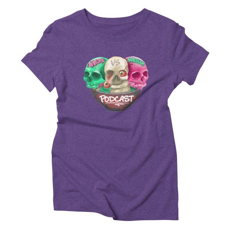 New Logo (transparent) Women's Triblend T-Shirt by NaturevsNarcissism's Podcast Swag Shop