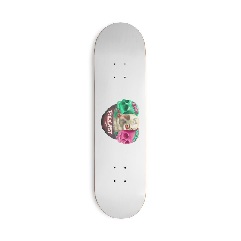 New Logo (transparent) Accessories Skateboard by NaturevsNarcissism's Podcast Swag Shop