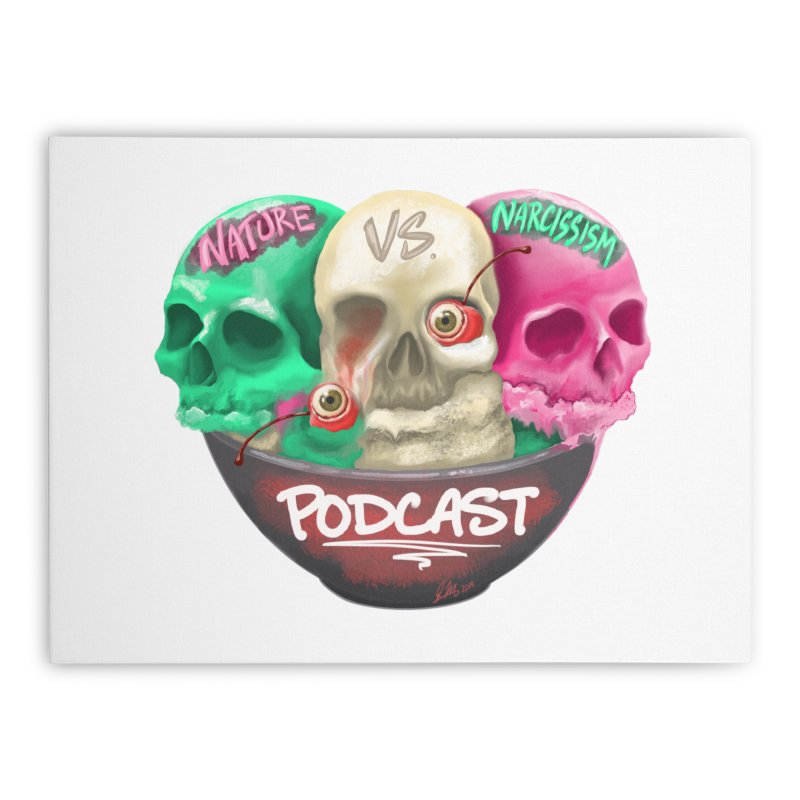 New Logo (transparent) Home Stretched Canvas by NaturevsNarcissism's Podcast Swag Shop