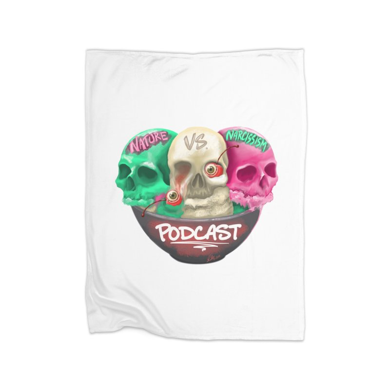 New Logo (transparent) Home Blanket by NaturevsNarcissism's Podcast Swag Shop