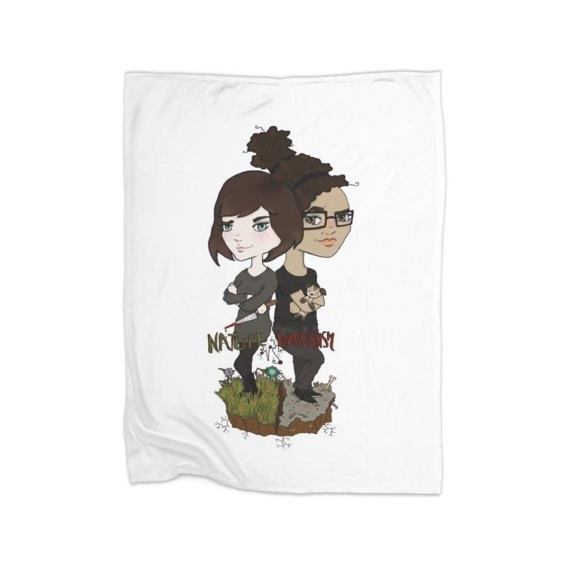 Heather & Marveliz Home Fleece Blanket Blanket by NaturevsNarcissism's Podcast Swag Shop