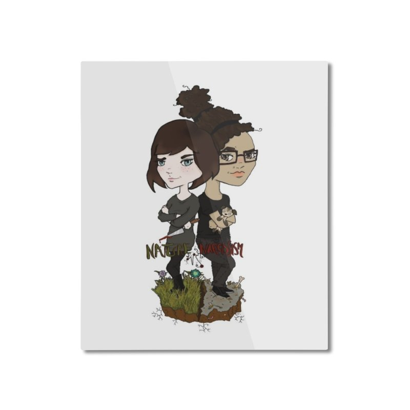 Heather & Marveliz Home Mounted Aluminum Print by NaturevsNarcissism's Podcast Swag Shop