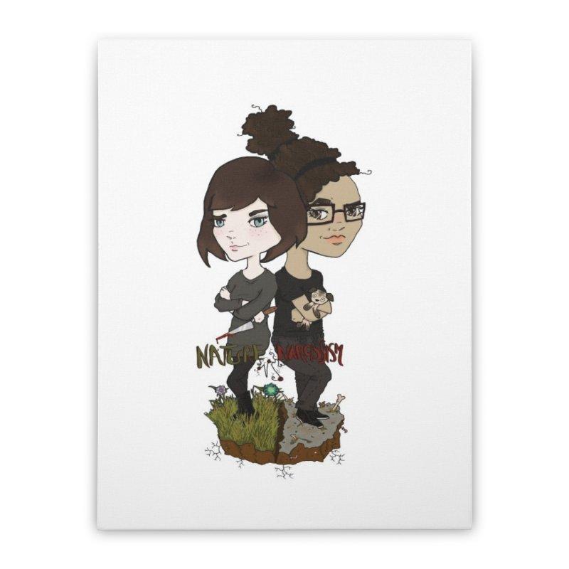 Heather & Marveliz Home Stretched Canvas by NaturevsNarcissism's Podcast Swag Shop