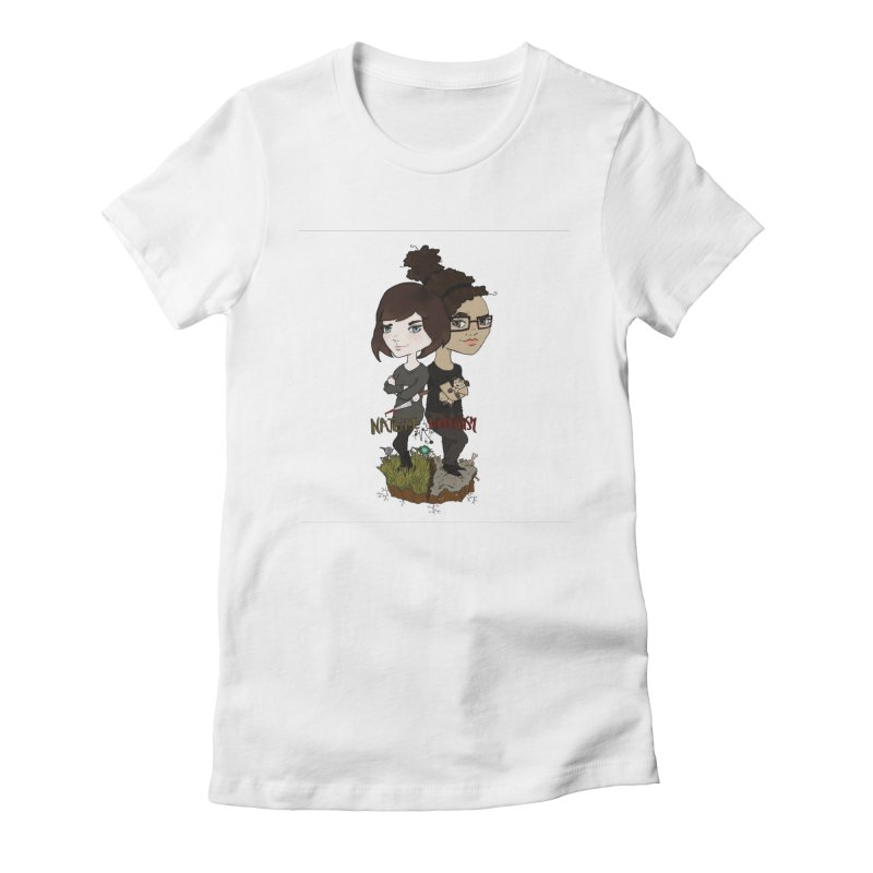 Heather & Marveliz Women's Fitted T-Shirt by NaturevsNarcissism's Podcast Swag Shop